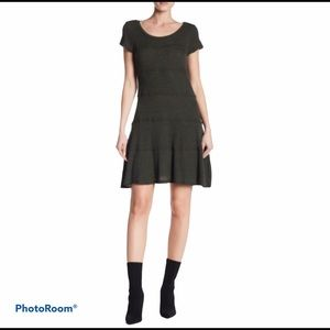 NWT Heather by Bordeaux Seamed Skater Dress